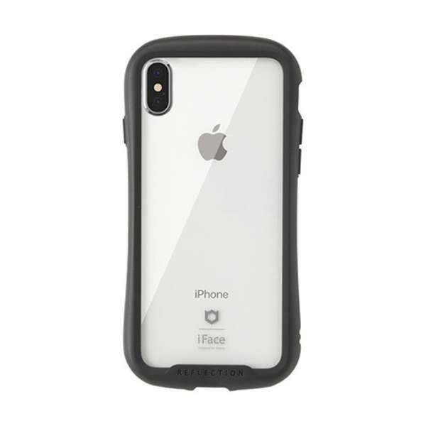 [iPhone XS Max専用]iFace Reflection強化ガラスクリアケース 41-907252 ブラック