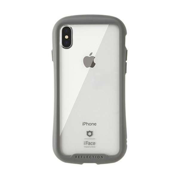 [iPhone XS Max専用]iFace Reflection強化ガラスクリアケース 41-907269 グレー