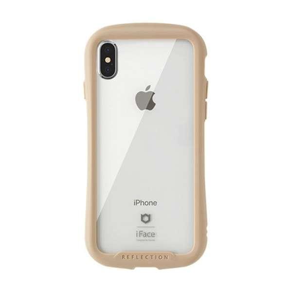 [iPhone XS Max専用]iFace Reflection強化ガラスクリアケース 41-907290 ベージュ