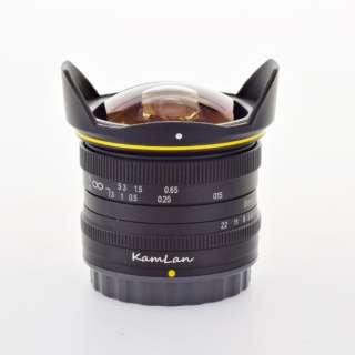 カメラレンズ 8mm F3.0 KamLan(カムラン) [キヤノンEF-M /単焦点レンズ]
