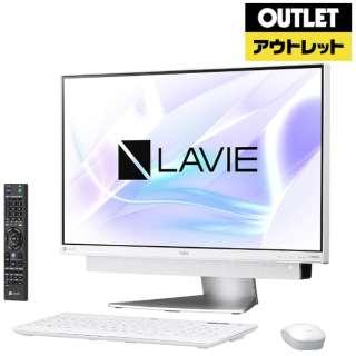 【アウトレット品】 23.8型デスクトップパソコン[Win10 Home・Core i7・HDD 3TB・メモリ 8GB・Office] LAVIE Desk  PC-DA770KAW ホワイトシルバー 【生産完了品】