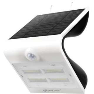 ソーラー充電式センサーウォールライト OL-303W ホワイト