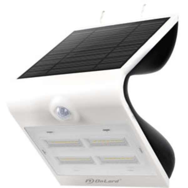 ソーラー充電式センサーウォールライト