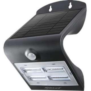 ソーラー充電式センサーウォールライト OL-303B ブラック