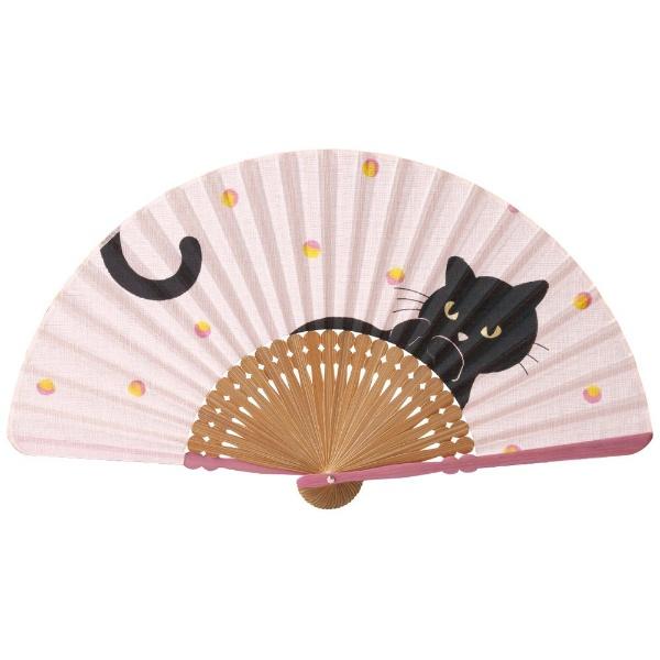 山二 婦人扇子 キャンディ 6541 ピンク