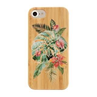 [iPhone 8/7/6s/6専用]kibaco BAMBOO RUBBER CASE 663-102906 SPREAD ALOHA