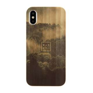 [iPhone XS/X専用]kibaco BAMBOO RUBBER CASE 663-103545 WAY UP