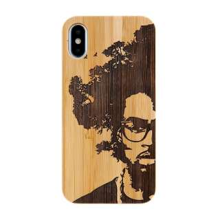 [iPhone XS/X専用]kibaco BAMBOO RUBBER CASE 663-103729 AFRO TREE