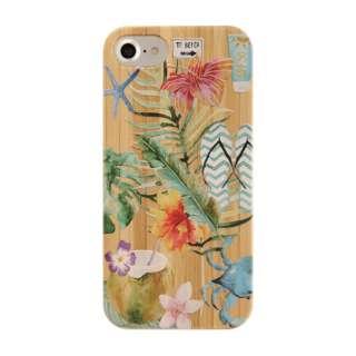 [iPhone 8/7/6s/6専用]kibaco BAMBOO RUBBER CASE 663-102579 BEACH LIFE