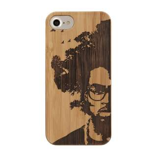 [iPhone 8/7/6s/6専用]kibaco BAMBOO RUBBER CASE 663-102708 AFRO TREE