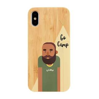 [iPhone XS/X専用]kibaco BAMBOO RUBBER CASE 663-103170 GO CAMP