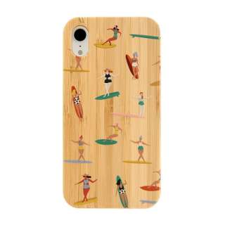 [iPhone XR専用]kibaco BAMBOO RUBBER CASE 663-103750 SURF GIRLS