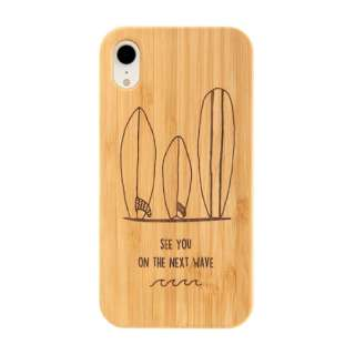 [iPhone XR専用]kibaco BAMBOO RUBBER CASE 663-103873 SURFBOARDS