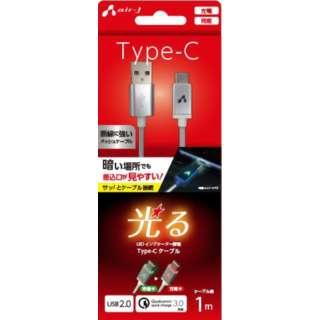 LED付 Type-Cケーブル 1M  SL UCJLED100SL