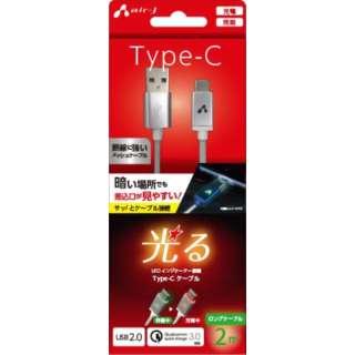LED付 Type-Cケーブル 2M  SL UCJLED200SL