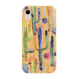 [iPhone XR専用]kibaco BAMBOO RUBBER CASE 663-103897 CACTI