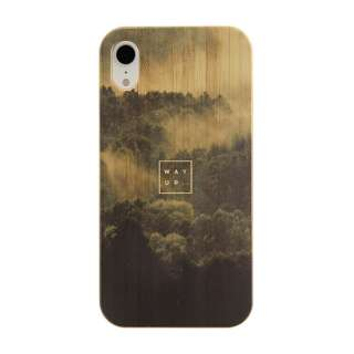 [iPhone XR専用]kibaco BAMBOO RUBBER CASE 663-103903 WAY UP