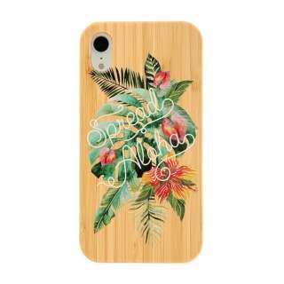 [iPhone XR専用]kibaco BAMBOO RUBBER CASE 663-103910 SPREAD ALOHA