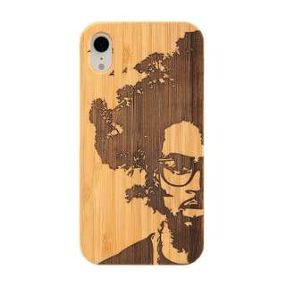 [iPhone XR専用]kibaco BAMBOO RUBBER CASE 663-103927 AFRO TREE
