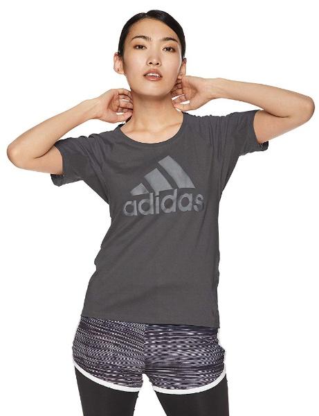 アディダス レディーススポーツウェア Tシャツ W M4T ビッグロゴ トレーニングTシャツ FSE63 DU1331 レディース グレーシックスS19