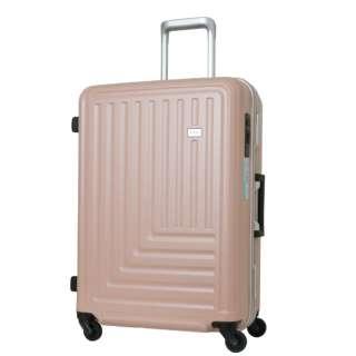 スーツケース ストッパー付ハードキャリー 65L ローズ TE-0791-61-RO [TSAロック搭載]