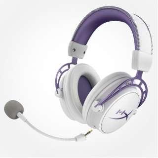 HX-HSCA-PL ゲーミングヘッドセット Cloud Alpha パープル [φ3.5mmミニプラグ /両耳 /ヘッドバンドタイプ]
