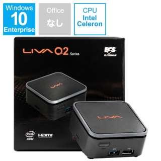 LIVA Q2 IOT デスクトップPC [モニター無 /intel Celeron /eMMC:32GB /メモリ:4GB /2019年4月モデル] LIVAQ2-4/32-W10(N4100) IOT [モニター無し /eMMC:32GB /メモリ:4GB /2019年4月モデル]