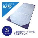 ダブルレイヤーマットレス -レーブ-ハードタイプ シングルサイズ(97×195×8cm/グレー×ブルー)