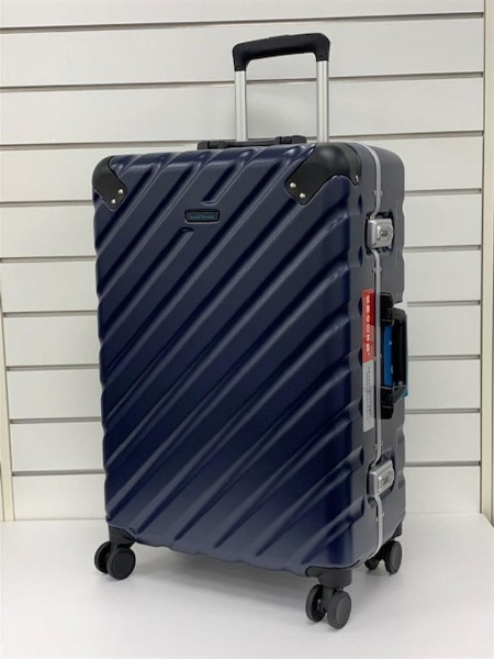 スーツケース 90L ワールドトラベラー(World Traveler) エラコール ネイビー WORLD-409803 [TSAロック搭載]