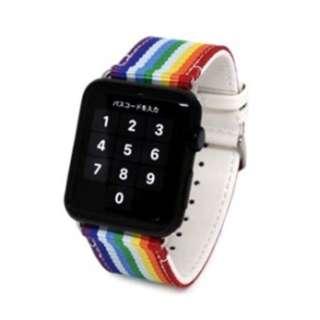 Apple Watch (42mm) ベルト ストライプ レインボー