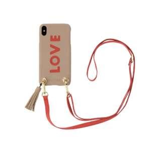 Strap Beige Love for iPhone XS Max ストラップベージュラヴ 16175