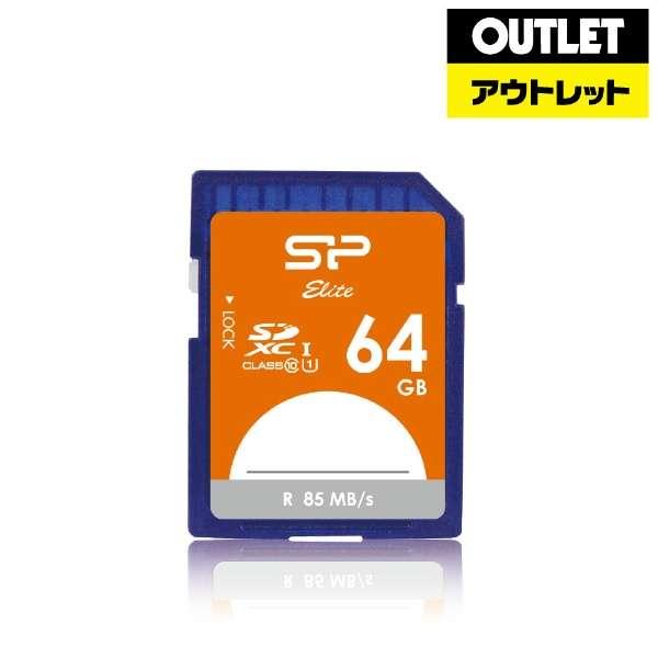【アウトレット品】 【アウトレット品】SDXCカード Elite SPJ064GSDEU1 [64GB /Class10] 【数量限定品】