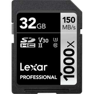 SDHCカード Lexar Professional LSD32GCBJP1000 [32GB /Class10]