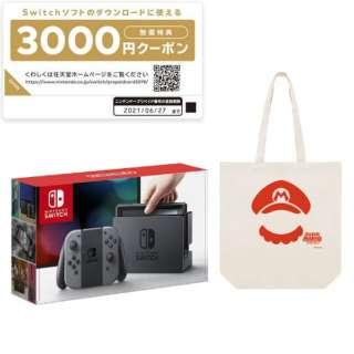 Nintendo Switch Joy-Con(L)/(R) グレー(ニンテンドースイッチ)[2017年3月モデル] + スーパーマリオトートバッグ [ゲーム機本体]