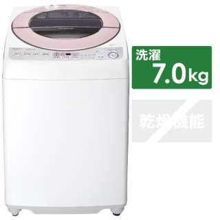 ES-GV7D-P 全自動洗濯機 ピンク系 [洗濯7.0kg /乾燥機能無 /上開き]