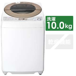 ES-GV10D-T 全自動洗濯機 ブラウン系 [洗濯10.0kg /乾燥機能無 /上開き]