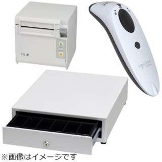AirレジBセット(白) レシートプリンター RP-D10-W27J2-B/キャッシュドロア DRW-A01-W/バーコードリーダー CX3397-1855