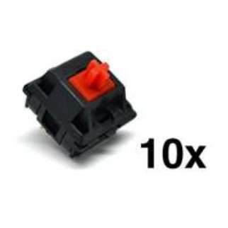 ビットトレードワン ビットトレードワン CherryMX メカニカルキースイッチ10個セット 赤軸 ADMXR レッド