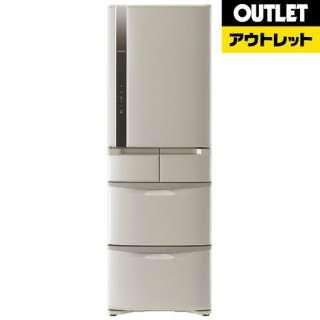 【アウトレット品】 R-K42F-T 冷蔵庫 ビッグ&スリム60 ソフトブラウン [5ドア /右開きタイプ /401L] 【生産完了品】