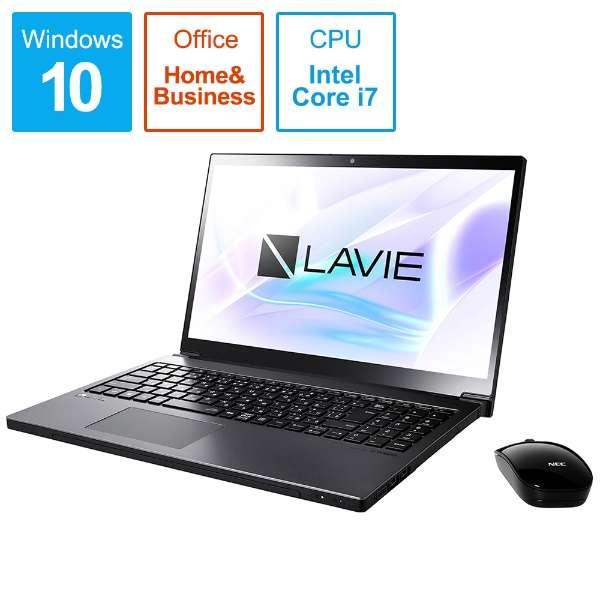 PC-NX850NAB ノートパソコン LAVIE Note NEXT グレイスブラックシルバー [15.6型 /intel Core i7 /HDD:1TB /SSD:256GB /メモリ:8GB /2019年5月モデル]