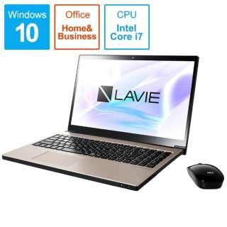 PC-NX750NAG ノートパソコン LAVIE Note NEXT クレストゴールド [15.6型 /intel Core i7 /HDD:1TB /Optane:16GB /メモリ:8GB /2019年5月モデル]