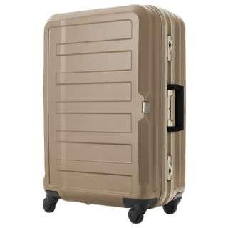 TSAロック搭載スーツケース(47L) 三層構造PC100%シボ加工ボディ  フレームキャリー シャンパンゴールド 5088-68-CGD 【85L(7泊以上) 5.2kg】 5088-68-CGD シャンパンゴールド [(約)85L]