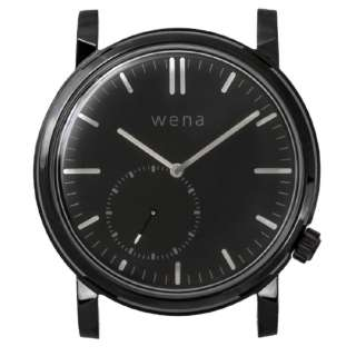 wena wrist Three Hands Retro Premium Black Head WNW-HT21 B