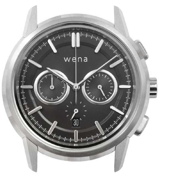 wena wrist Chronograph Classic Silver Head WNW-HC21 S