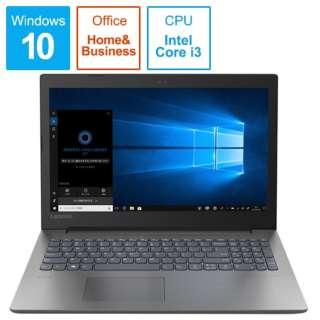 ideapad 330 ノートパソコン オニキスブラック 81DC014YJP [15.6型 /intel Core i3 /HDD:1TB /メモリ:4GB /2019年5月モデル]