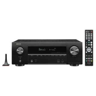 AVR-X1600HK AVアンプ DENON ブラック [ハイレゾ対応 /Bluetooth対応 /Wi-Fi対応 /ワイドFM対応 /7.1ch /DolbyAtmos対応]