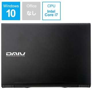 DAIV ノートパソコン ブラック BC-DA87M16S5R26-191 [15.6型 /intel Core i7 /SSD:512GB /メモリ:16GB /2019年5月モデル]