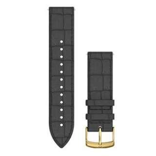 Quick Release バンド 20mm Black Embossed Italian Gold Leather 010-12691-1C