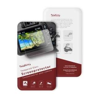 イージーカバー 強化ガラス 液晶保護フィルム ニコン D7500 用