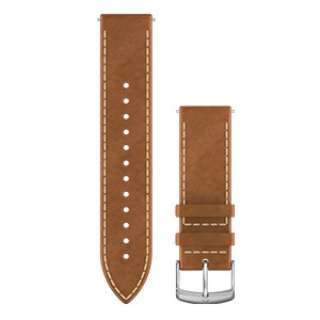 Quick Release バンド 20mm Tan Italian Silver Leather 010-12691-1A